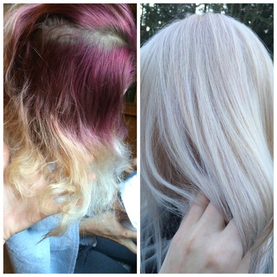 TO THE RESCUE: Home Disaster To Beautiful Ash Blonde
