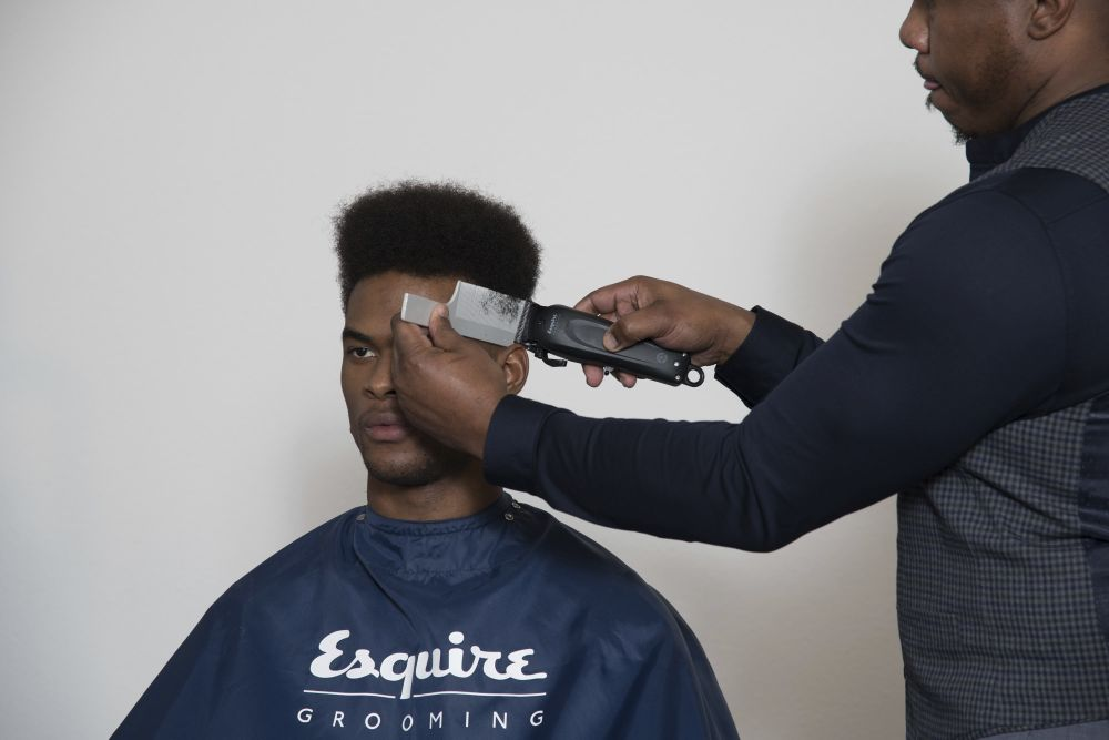 Styling by Trevelle Baker, Esquire Barber