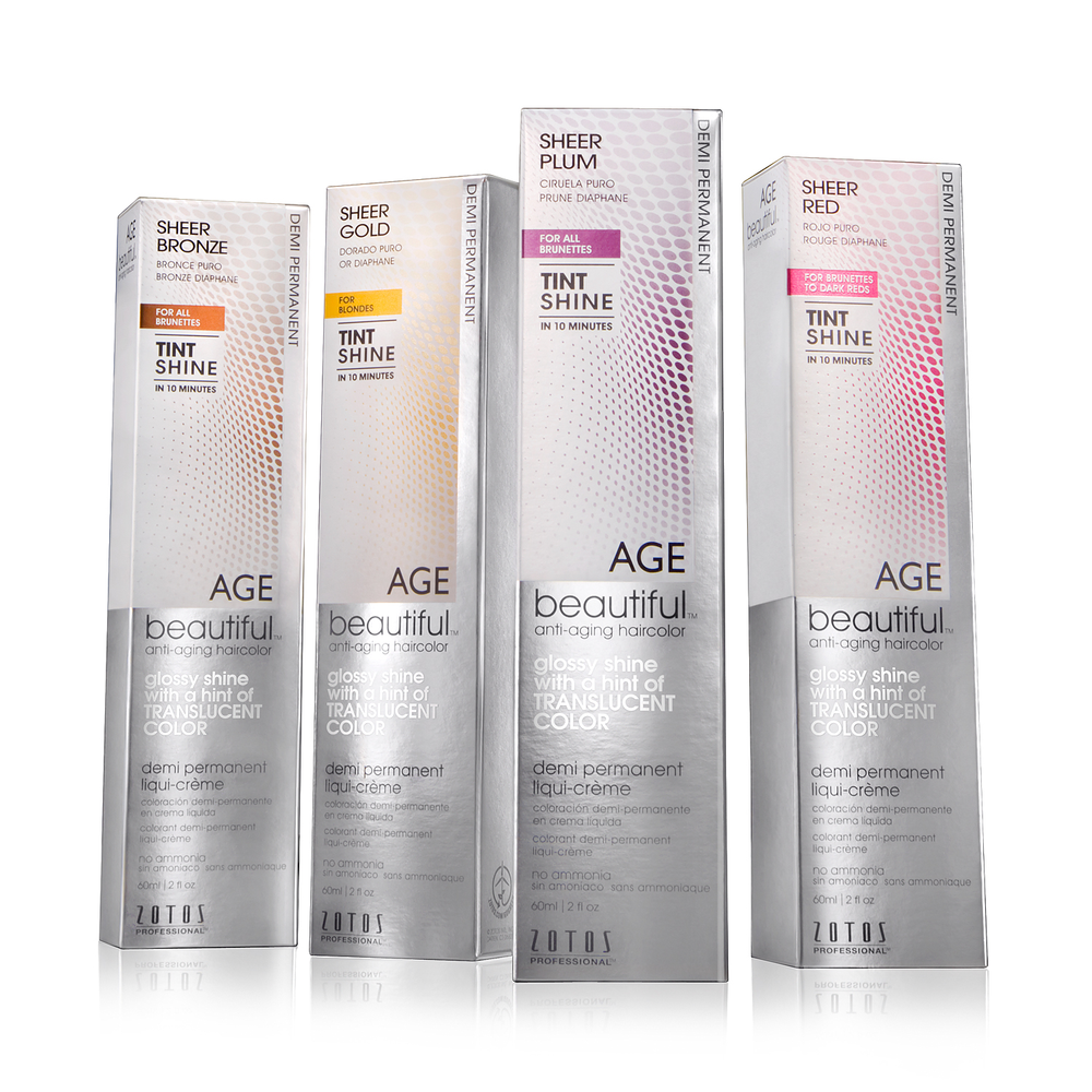 Zotos' AGEbeautiful Tint Shine Anti-Aging Haircolor