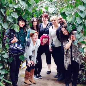 The team from The Circle Salon on retreat at the Garfield Park Conservatory in Chicago, IL.