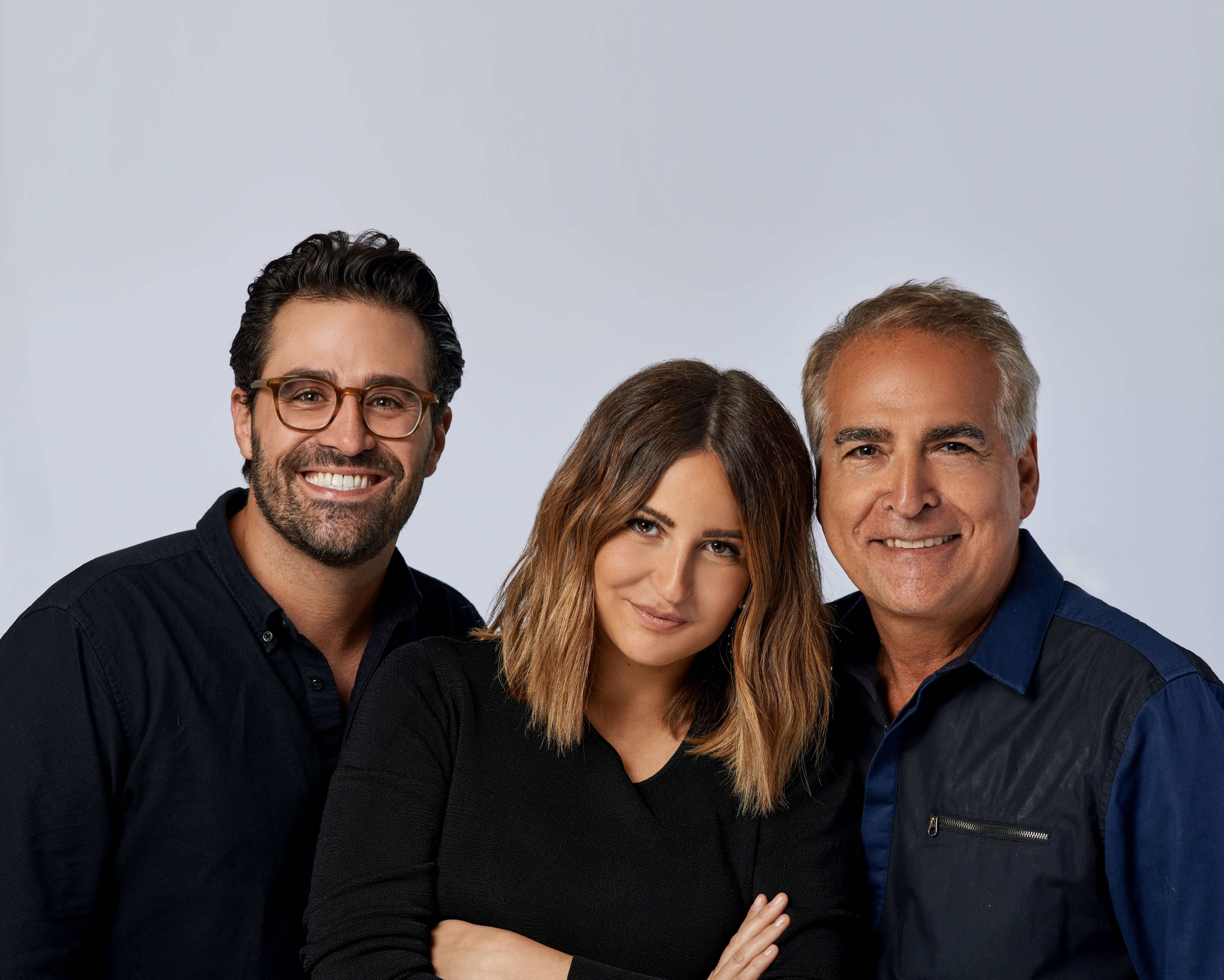 Philippe, Olivia and Charles Ifergan of the Charles Ifergan Salon, with three locations in Chicago.