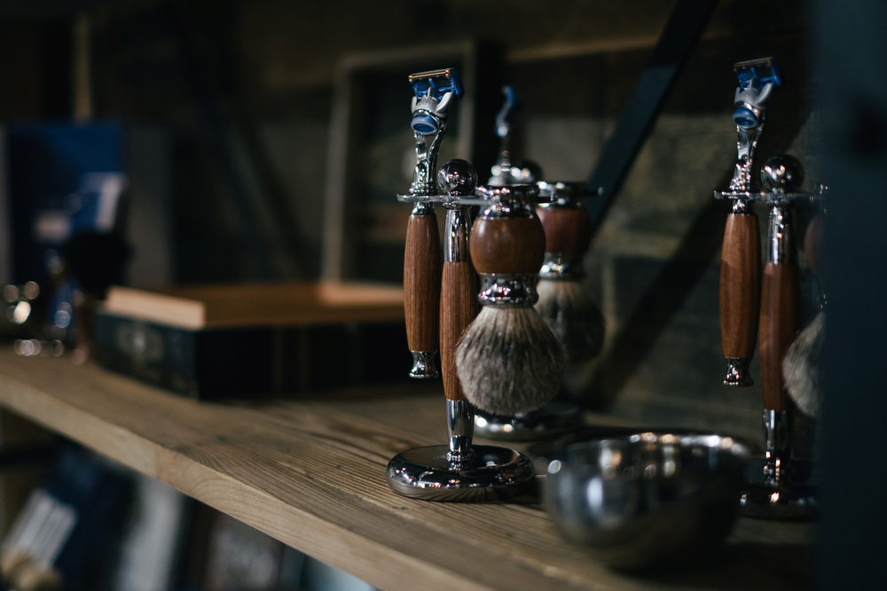 Shaving brushes are an ideal addition to the retail offerings.