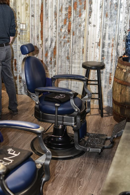 <p>The barber stations at the new 1922 Men&#39;s Grooming Salon in Woodstock, Georgia.</p>