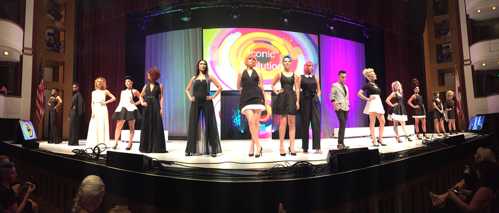 The team from Pyure Salon lives out their dream of presenting hair art onstage at Dare to Dream 2016.
