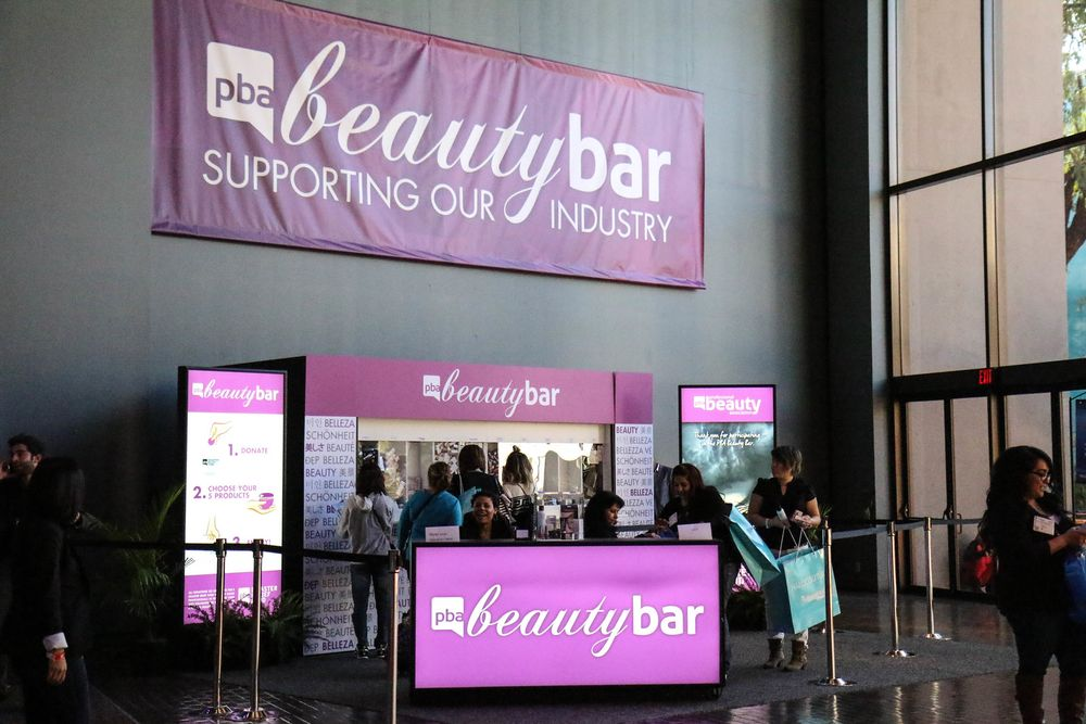 Licensed beauty professionals can get their hands on the latest beauty product samples at the Beauty Bar.