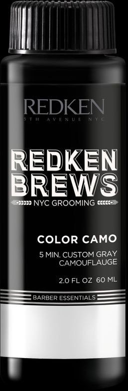"""<p>""""I LOVE REDKEN COLOR CAMO FOR MEN! This 5- 10 minute custom gray camouflage ammonia-free color comes in six shades, which is easily applied quickly at the shampoo bowl. It fades gradually without unnatural gold or red tones—low maintenance results. Guys can come to the salon on their lunch break!""""</p> <p>-@angelahairartist</p>"""