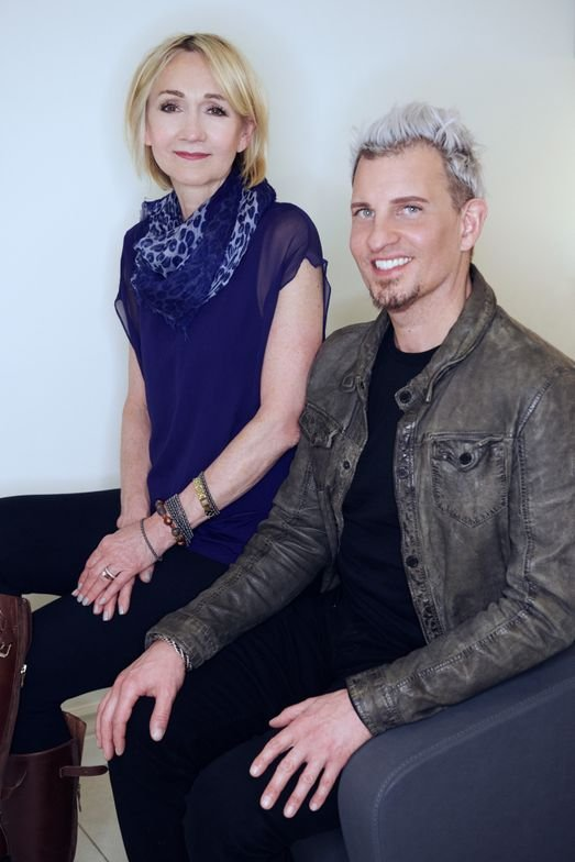 Salon owners Dianne Petersen and George C. Long
