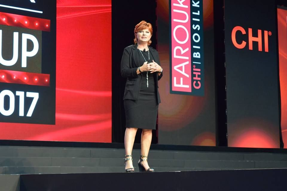 Lisa Marie Garcia, president of innovation at CHI, talks launches at the general session.