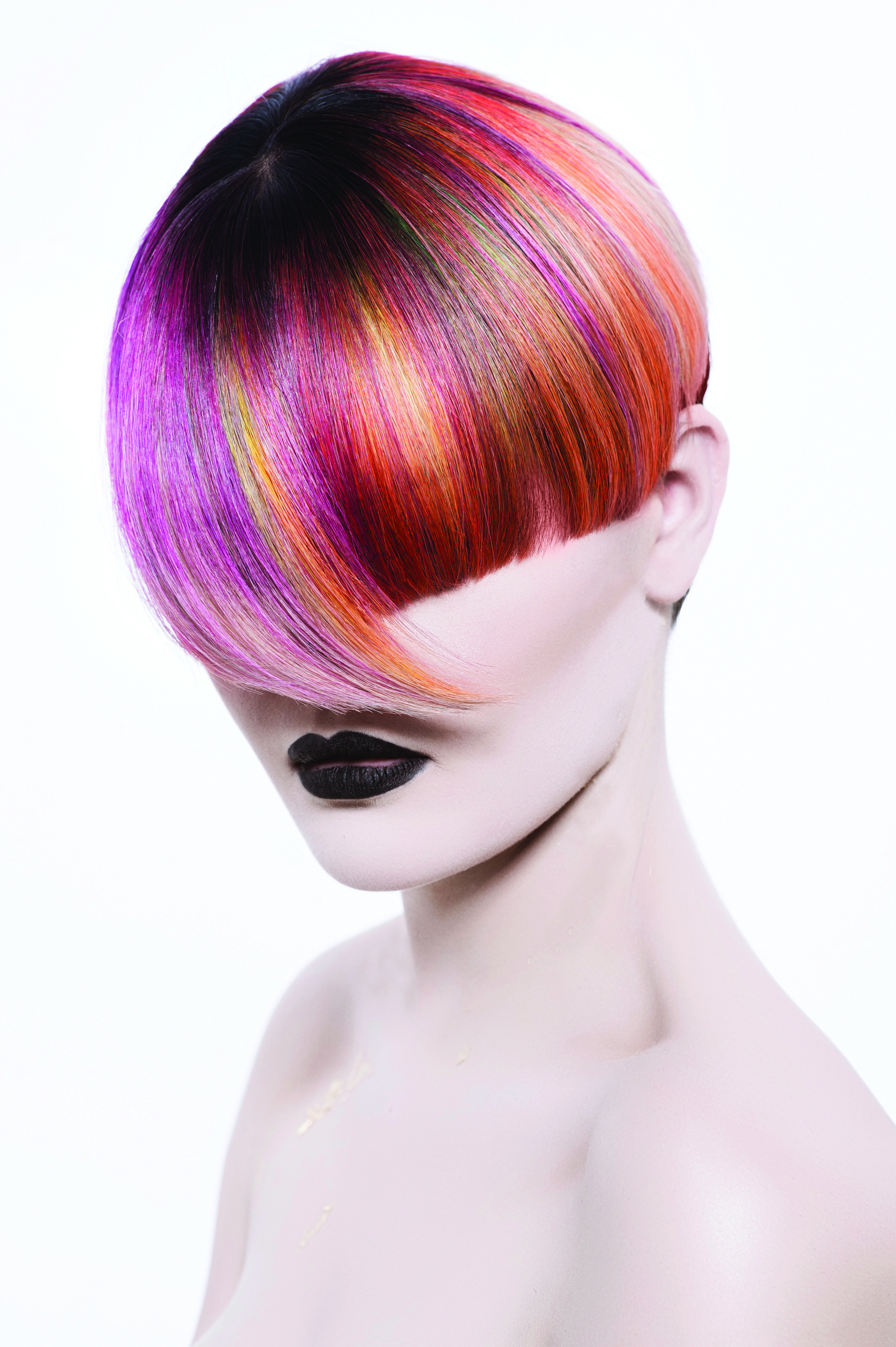 Gilded Geometric: Vertical Geometric Color from L'Anza