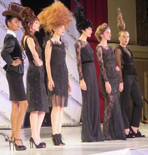 The great Odile Gilbert for LOréal Kérastase, Paris, did a wonderful presentation at the Intercoiffure 2013 Atelier in 