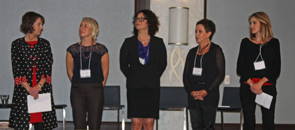 Qnity team moderators: Teresa Jackson, Brigette Sobus, Amy Carter, Carol Augusto, and Alexis Bourdamis.