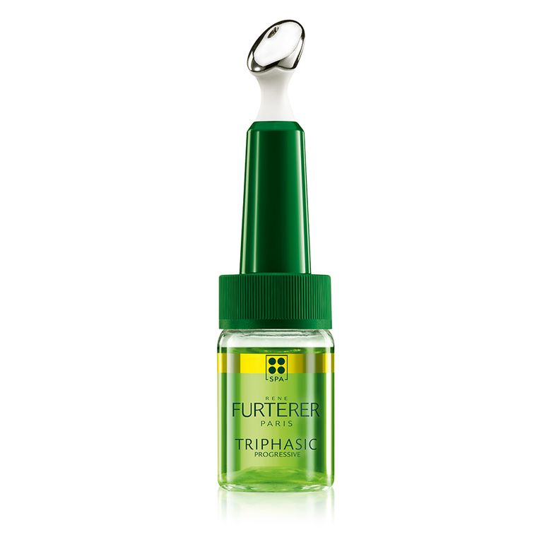 <p><strong>One hundred percent drug-free René Furterer TRIPHASIC PROGRESSIVE concentrated serum is formulated with Biotrinine, a patented botanical complex that supports natural hair growth while re-densifying existing thin and sparse hair.</strong></p>