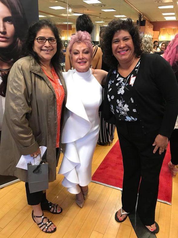 Rosa Vazquez- client, Irma Wheeler- owner and Lorena Vasquez- client