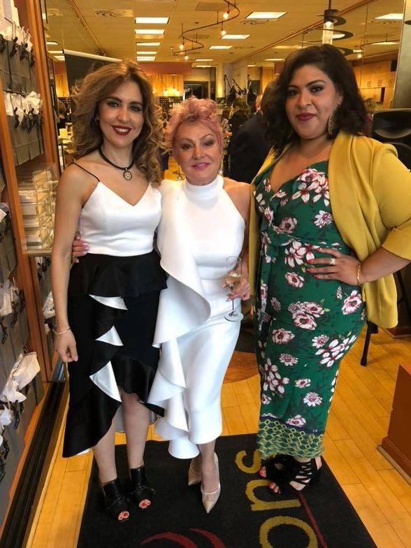 Naoual Benjelloun- stylist, Irma Wheeler- owner, Yvette Guerra- manager