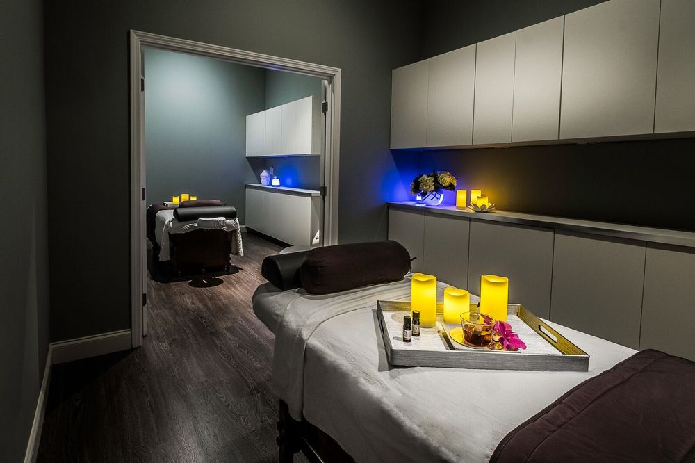 A treatment room in Gloss Salon and Spa.
