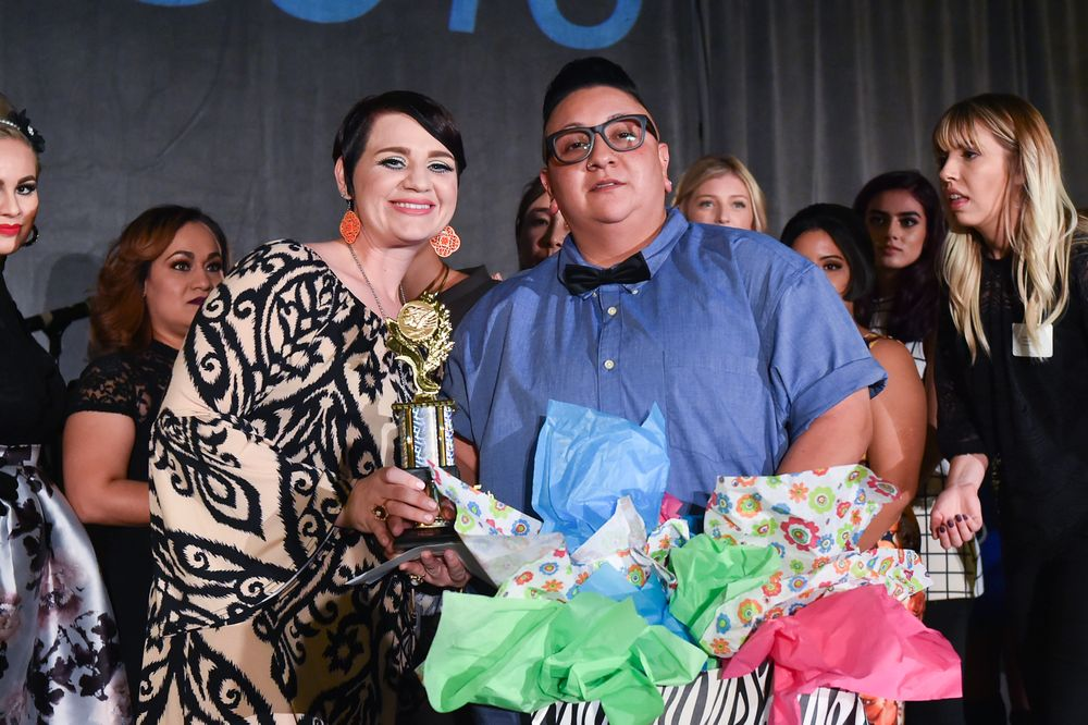 5th Place: Salon Success Academy – Upland – Barber Program -- Jeanette Anguiano and model, Mia