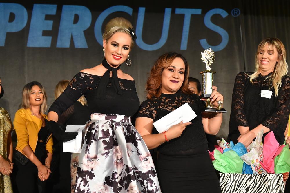 3rd Place: International School of Beauty – student Adriana Aleman and model, Jennifer