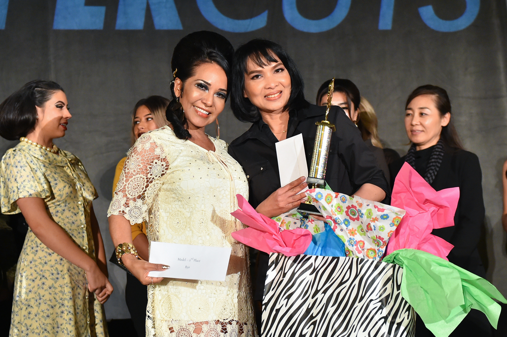 2nd Place: Cerritos Beauty Academy – student Paneenart Surasmith and model, Elizabeth