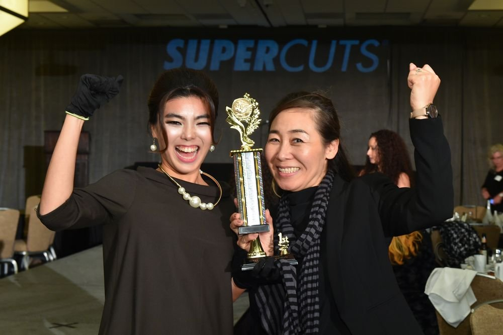 1st Place: Fullerton College – student Ella Yi and model, Mako