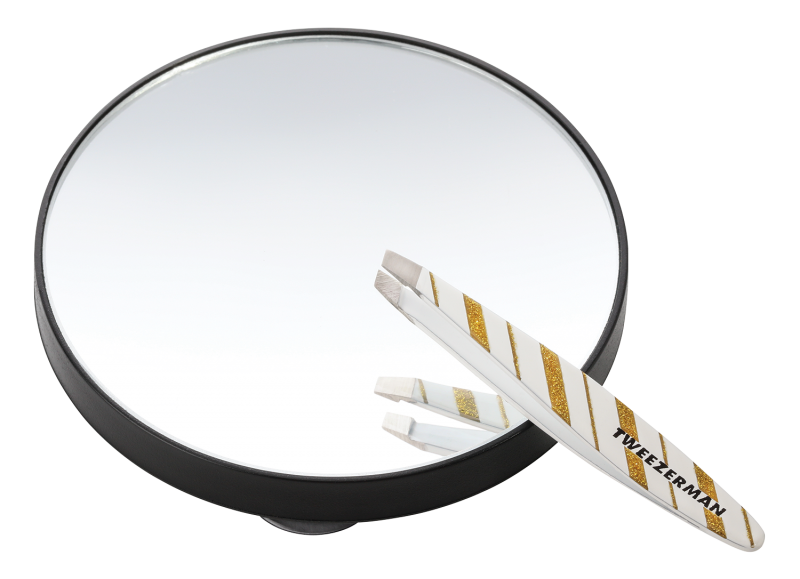 <p><strong>Splitting hairs:</strong> It is a pain that only a hairdresser understands, that of a hair splinter. Use this precise but pretty Tweezerman tweezer and 10x magnifying mirror to locate and remove the offending hair from your bra and elsewhere.</p>