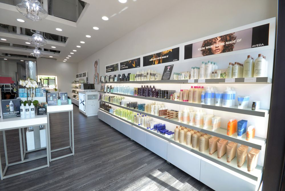 Owners Luca Boccia and Elan Levy wanted a space that that focused on home care needs, which is why they designed the salon to have a retail focus