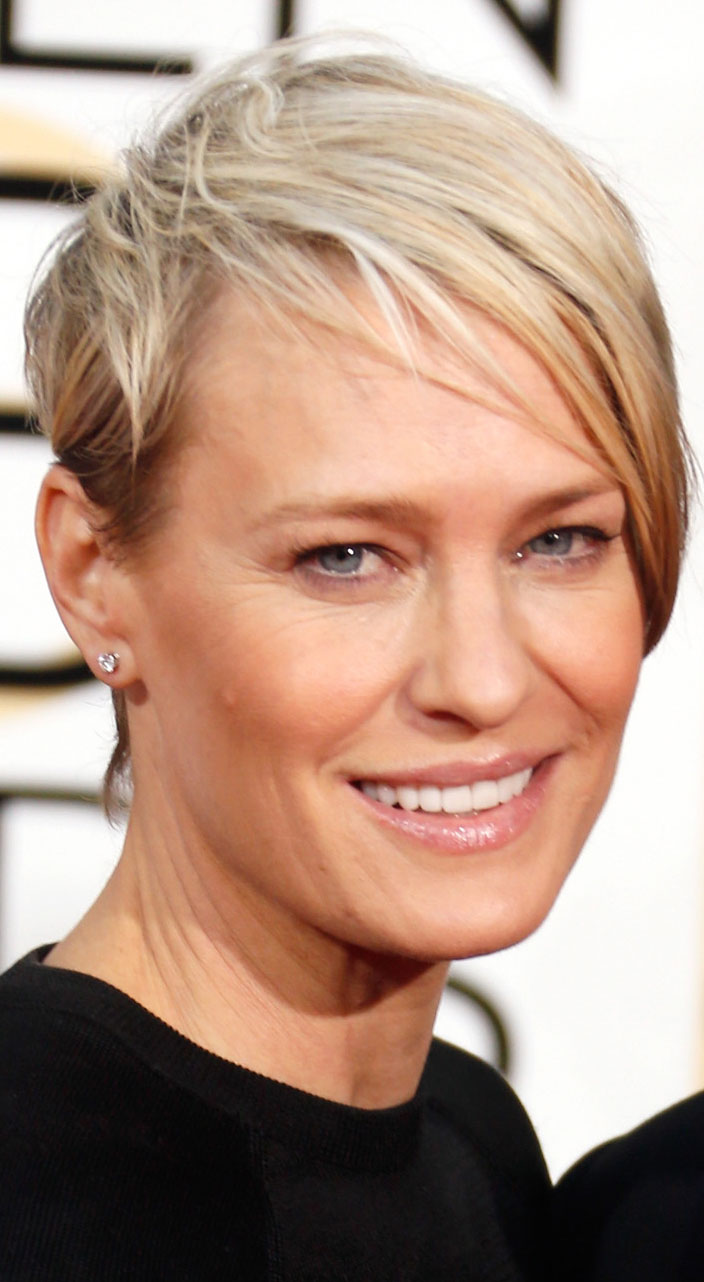 2015 Golden Globes How-To: Robin Wright's Strong, Sexy Style