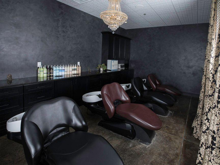 Five Yume shampoo chairs take clients on a sensory journey.