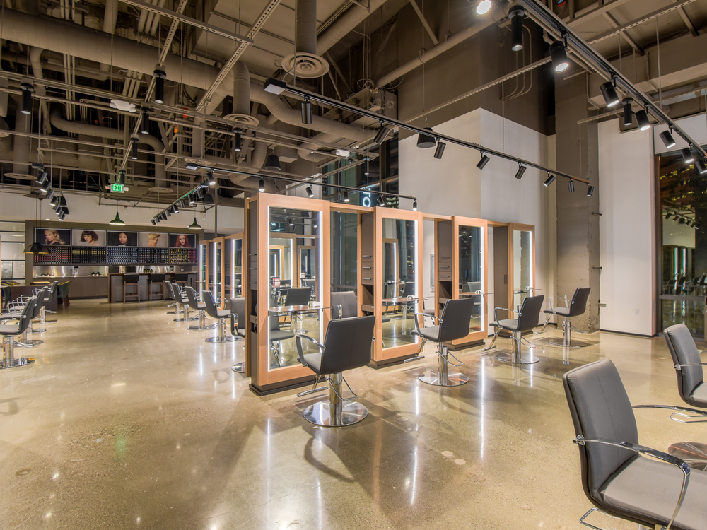 Although the salon is departmentalized, cutting and coloring stations are intermixed on the floor at the team's suggestion, which has helped bump up color sales.