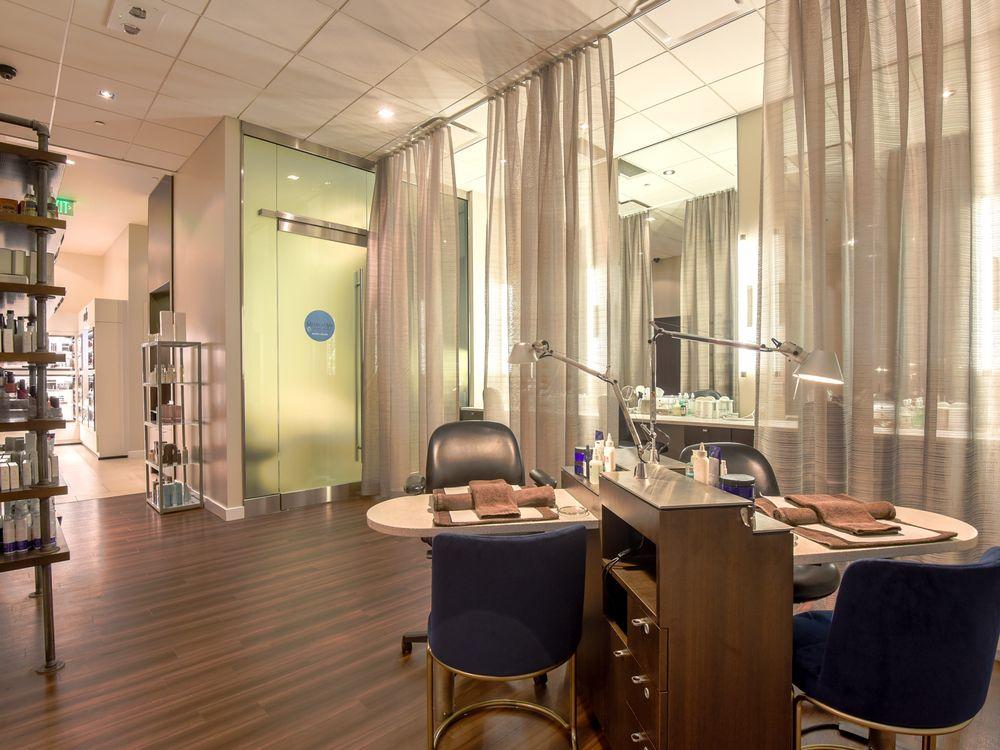 The manicure area at Gene Juarez Salon and Spa.