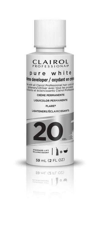 "Clairol Professional 20 Volume Pure White Developer 2 oz.<br /> <p class=""xmsonormal""><span style=""font-family: 'Calibri','sans-serif'; color: #1f497d;""> </span></p>"