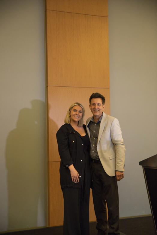 <p>Brittany Gufstasom and Larry Silvestri</p>
