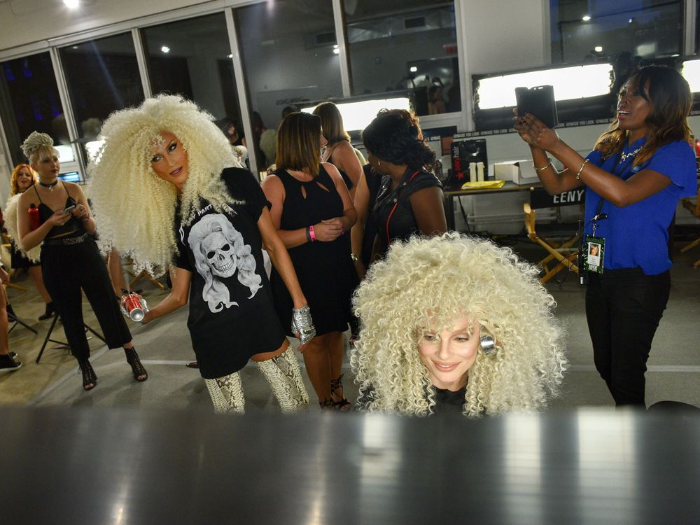 Phillipe Blond meets Sexy Hair Spray.