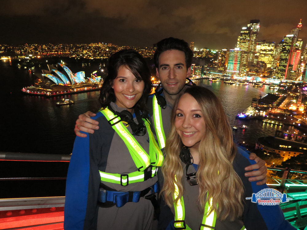 The KLC crew climbs the Sydney Bridge! Gabriella Arenas, Alex Cohn and Alison Alhamed.