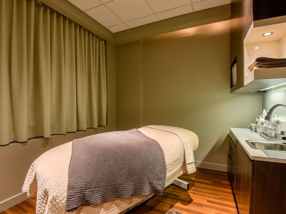 A treatment room at Gene Juarez Salon and Spa.