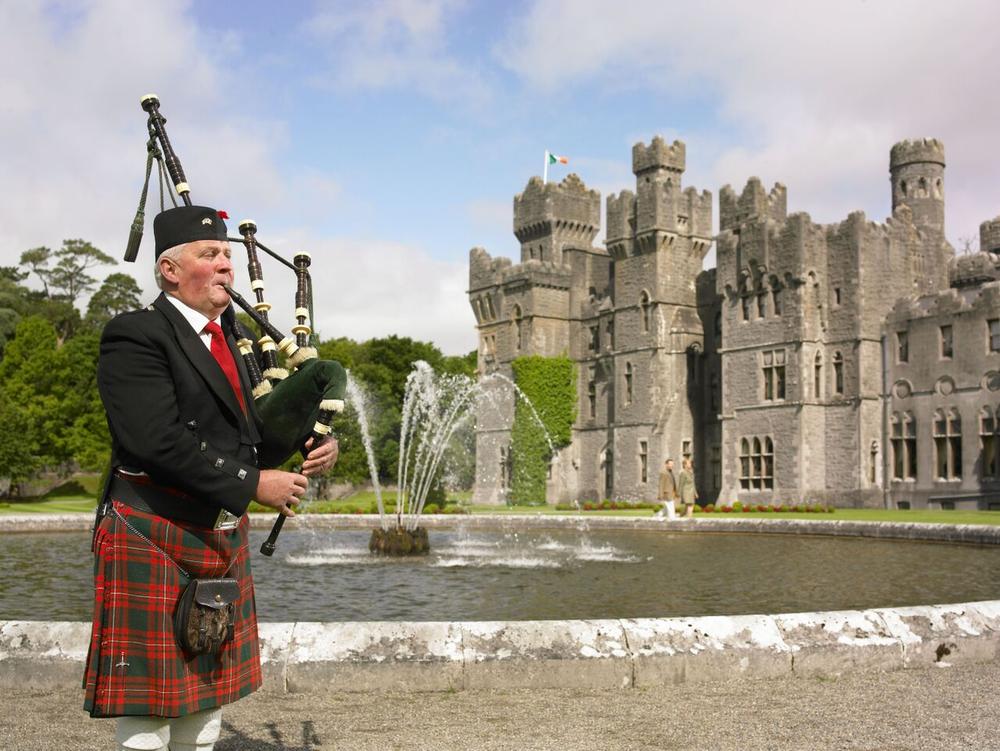 Entrance to The Ashford Castle, County Mayo, Ireland.