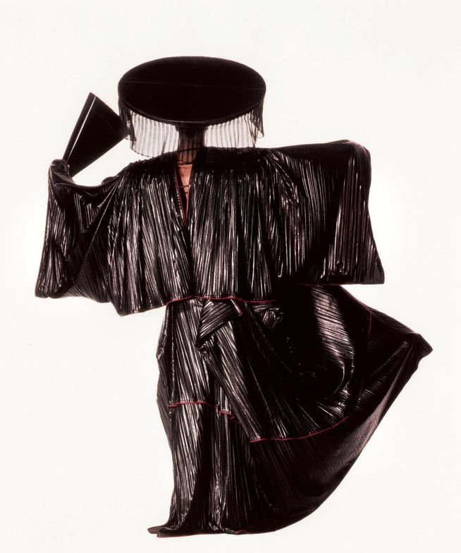 "<p class=""textbox"" dir=""ltr"">Irving Penn 'Issey miyake design with black fan (new york)' dye-transfer print, signed, titled, dated, and annotated in pencil and stamped on the reverse, framed, 1987, printed in 1992, one from an edition of 17 dye-transfer prints 22 1/8 by 19 3/8 in. (56.2 by 40.1 cm.) <br />Estimate $15/25,000</p>"