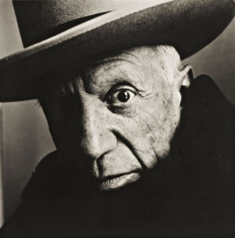 "<p class=""textbox"" dir=""ltr"">Irving Penn 'Picasso (b) Cannes' platinum-palladium print, flush mounted to aluminum, signed, initialed, titled, dated, editioned '25/47,' and annotated in pencil and stamped on the reverse, framed, 1957, printed in 1985 18 5/8 by 18 5/8 in. (47.3 by 47.3 cm.) <br />Estimate $70/100,000</p>"