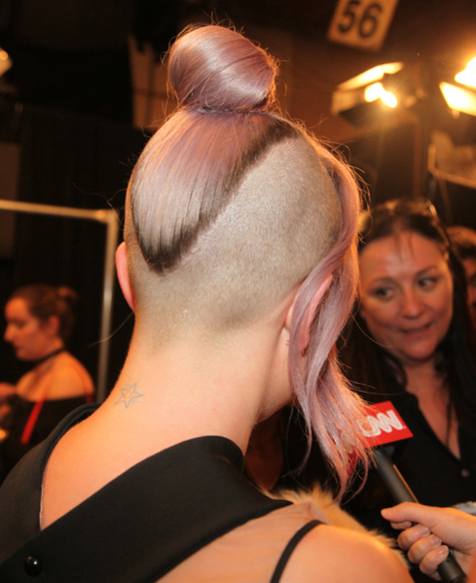 """<ol start=""""2017""""> <li>Wow! Take a look at Kelly Osbourne and her lilac hair backstage at the Francesca Liberatore New York Fashion Week show for Spring 2017.  You have to give it to the girl. She is fearless and wonderful. </li> </ol>"""