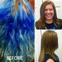 TRANSFORMATION: Goodbye Fantasy Blue - Hello Natural Haircolor!
