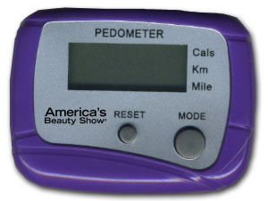 Here's one of the nifty America's Beauty Show pedometers that were passed out to the first 1,000 lucky people!