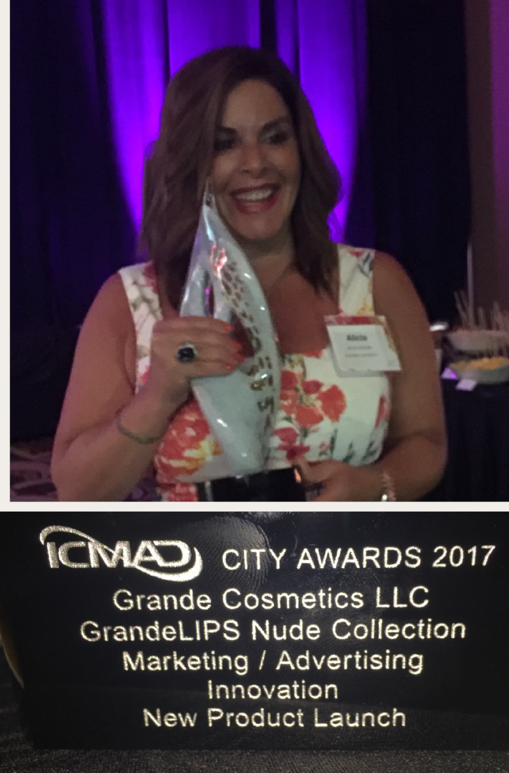 Grande Lips Wins ICMAD City Award for Best New Product