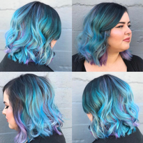 Teal + Purple Color Combo: Hair Color Conditioning Masque That Develops in Minutes