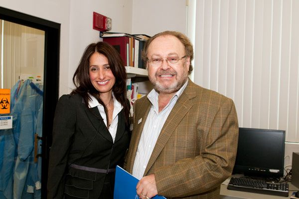 Daniela Castonotto, Ph. D, Associate Research Professor, Department of Molecular and Cellular Biology, and George W. Schaeffer.  Dr. Castonotto conducted a tour of the Castonotto lab.