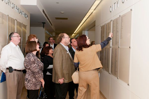 The tribute wall lists the names of past Spirit of Life honorees.