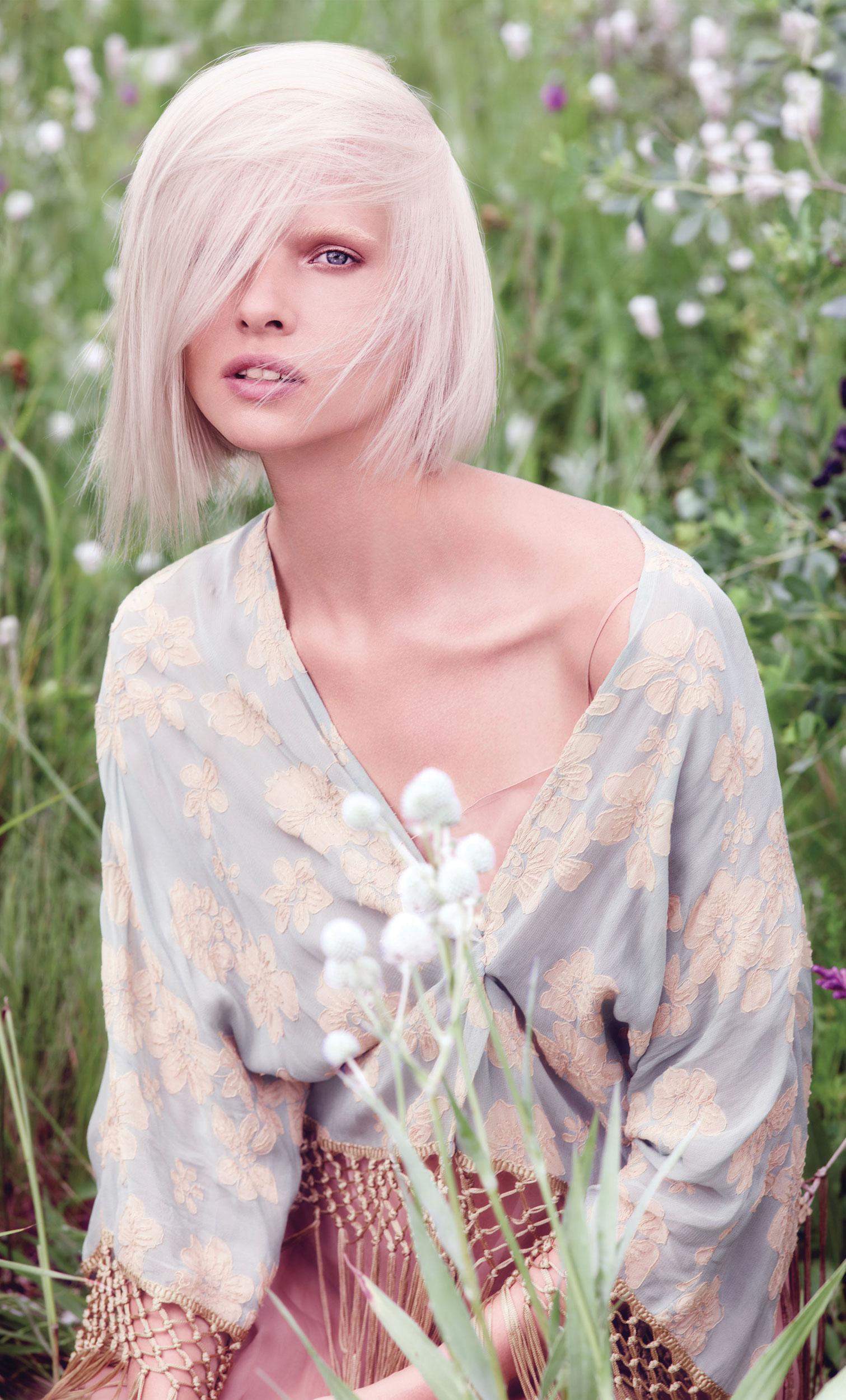 Aveda Color How-To: White Jasmine Blonde