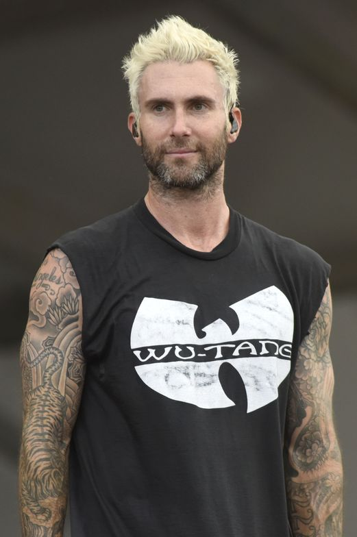 Maroon 5 frontman Adam Levine debuted his platinum look during a telecast of <em>The Voice </em>in May.