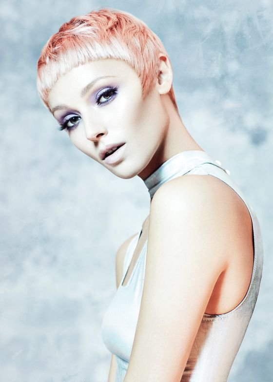 Power Pink: The hair's strong edges and shape plays well with the color and soft, moveable texture.