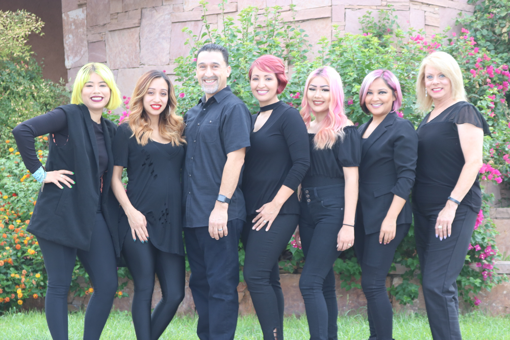 The team from Agape Salon and Spa in Rancho Mirage, CA.