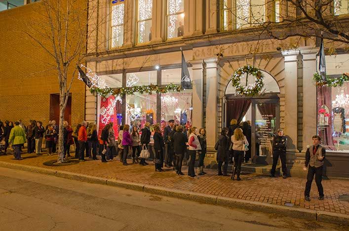 A line stretched around the block as clients and their guests waited to attend Cirque du Akari, our 25-anniversary celebration. (Photo by Francois Gagne)