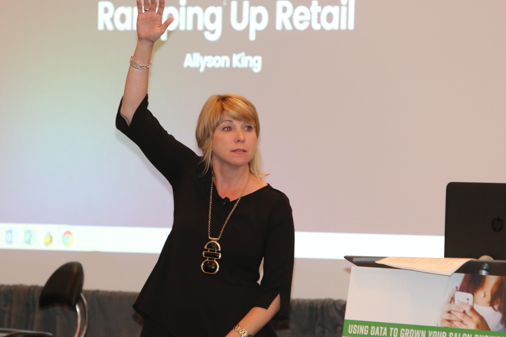 """Ninety percent of the population is right-handed, so guess where you should stock your retail?"" says Allyson King."